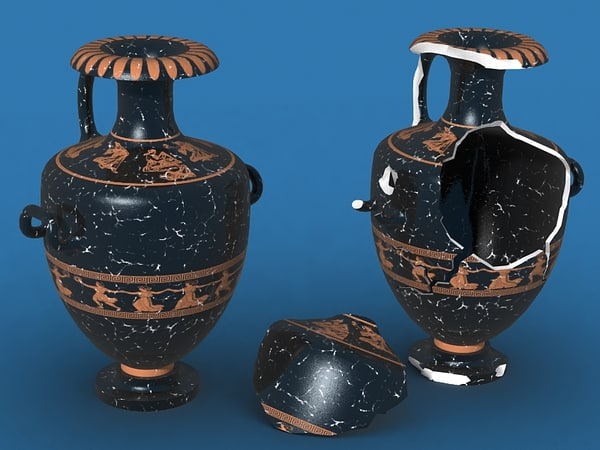 antique ceramics hydria 3d max