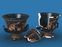 3d model krater ancient