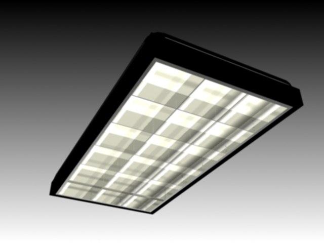 3ds ceiling light parabolic