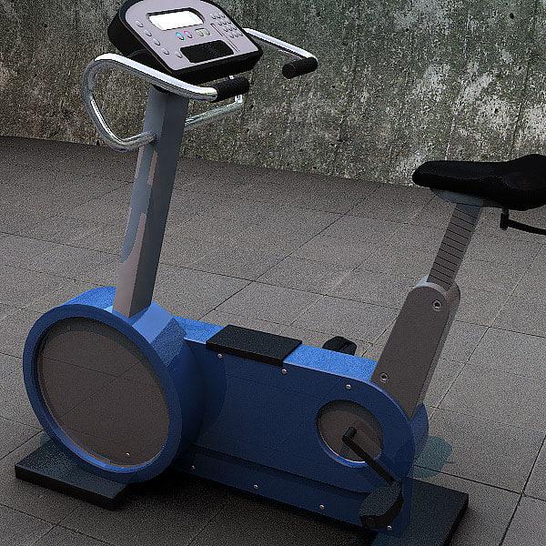 workout bike body 3d model