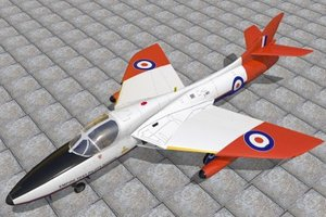 hawker hunter jet fighters 3d lwo