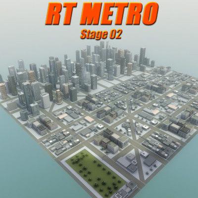 3d model city environment buildings construction