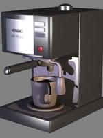 expresso coffee machine 3d model