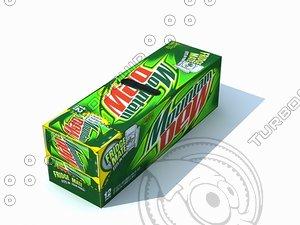 mountain dew fridge 3d model