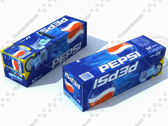 pepsi fridge mate 3d model