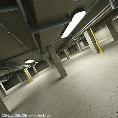 3dsmax garage scene