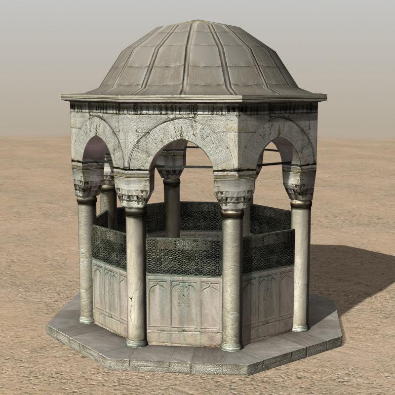 3d model of arab fountain fountain01