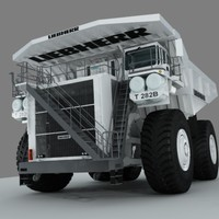 liebherr truck heavy 3d model