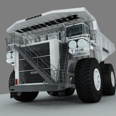 liebherr truck heavy 3d model