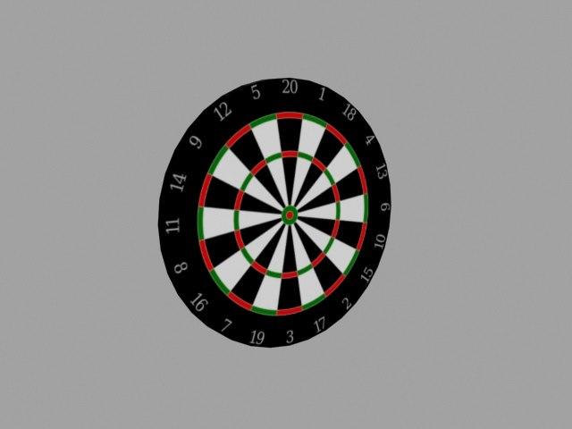 3dsmax dart board dartboard