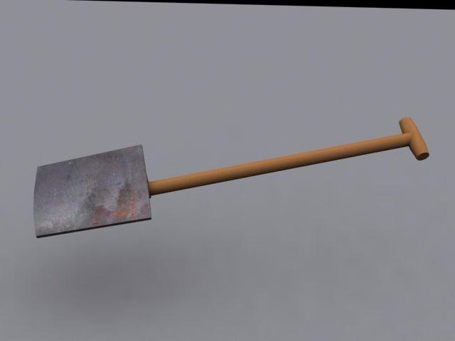 spade shovel 3d 3ds