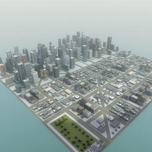 city buildings construction 3d model