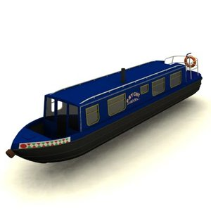 canal boat 3d max