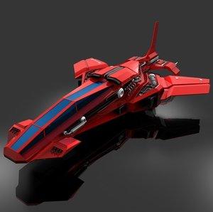 3d model futuristic air fighter place