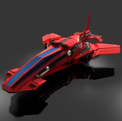 3d model futuristic air fighter place