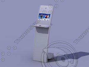 3d model touch screen kiosk