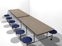 3d cafeteria table