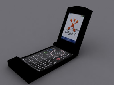 3d cell phone model