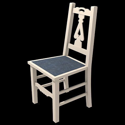 3d old english chair