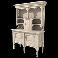 3d model old sideboard