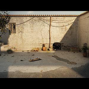 alley scenes 3d model