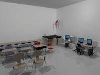 3d model table desk school