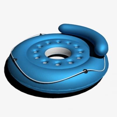 3d inflatable island pool