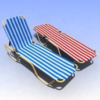 sunbeds sun beds 3d max