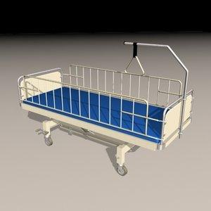 bed medical 3d model