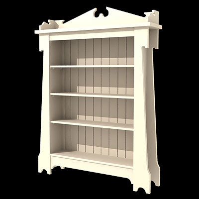 3d old bookcase model