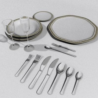 3d plate set model