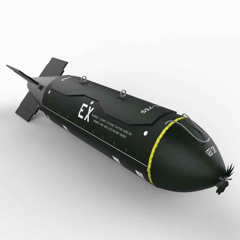 3d bl-755 cluster bomb model