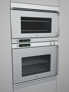 gaggenau double wall oven 3d model