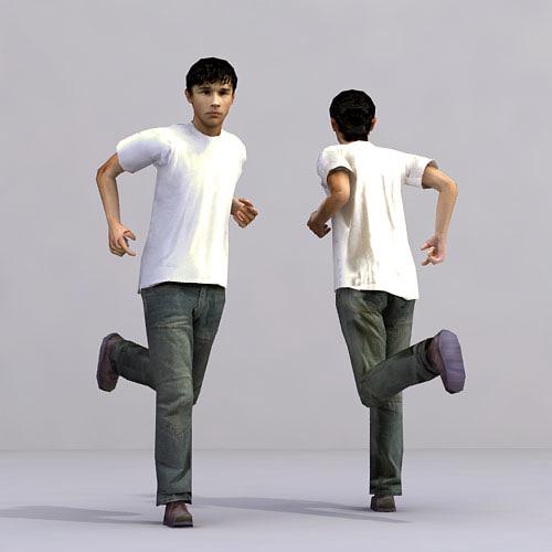 3d human metropoly characters model