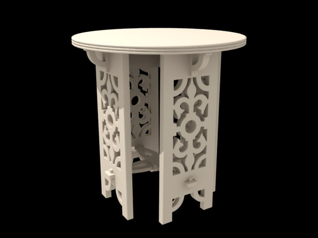 3d model of small tea table furniture