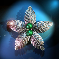 3d ottoman brooch model