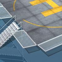 building roof helipad 3d model
