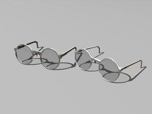 3d model glasses version
