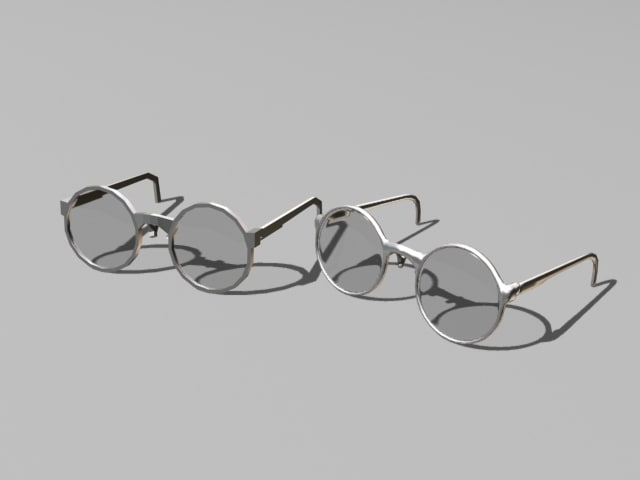 3d model glasses version