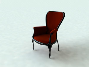 3d victorian baroque chair model