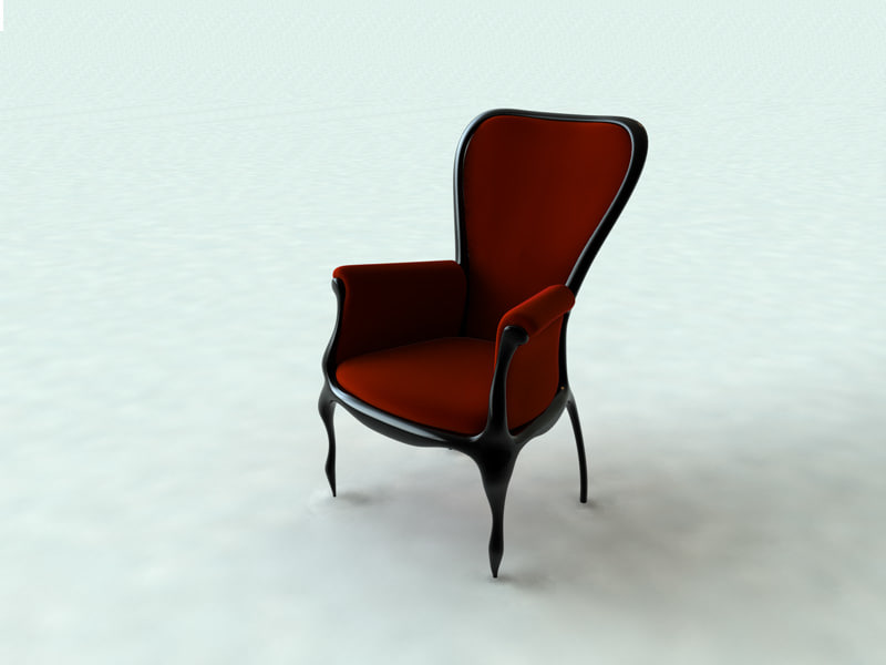 3d victorian baroque chair model