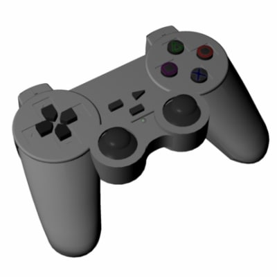 free playstation analog controller 3d model