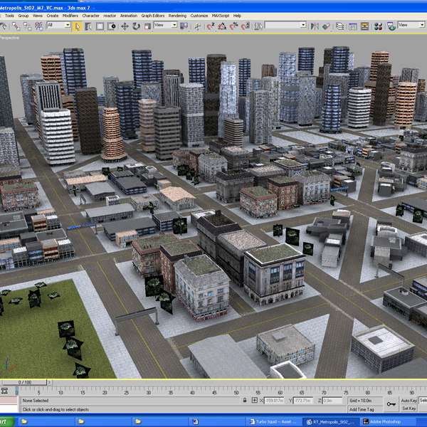 max7 city buildings 3d model