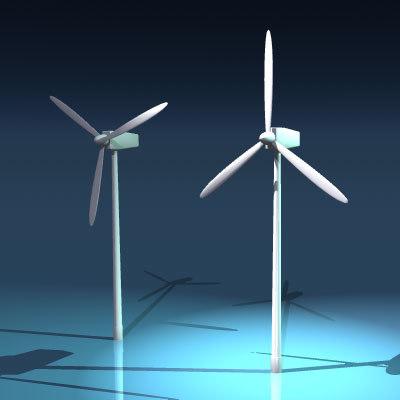 3d generic wind turbine model