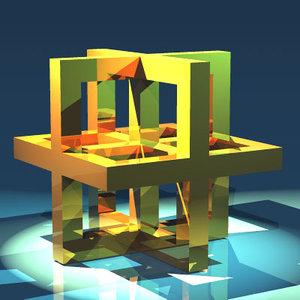 3ds max leonardo da vinci cube