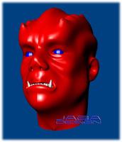 organic orc humanoid human character 3d model