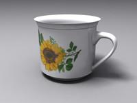 3d tea cup