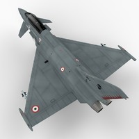 eurofighter typhoon italian version 3d model