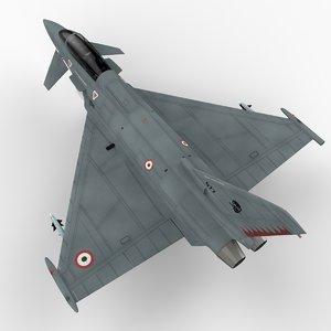 eurofighter typhoon italian version 3d model