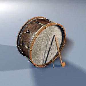 turkish folcloric drum 3d model